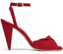 Fairy Twisted Suede Sandals Claret