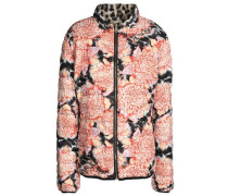 Quilted printed shell jacket