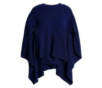 Cape-effect cashmere sweater