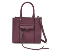 M.a.b. Textured-leather Tote Purple Size --