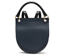 Leather Backpack Navy Size --