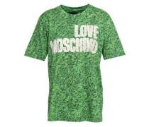 Printed Cotton-jersey T-shirt Green