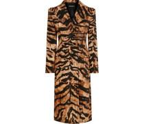 Tiger-print Cotton-blend Trench Coat Animal Print