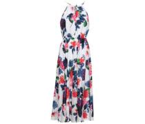 Casey Floral-print Silk Midi Halterneck Dress White