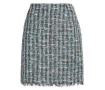 Frayed tweed mini skirt