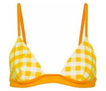 Checked Triangle Bikini Top Marigold