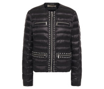 Woman Crystal-embellished Quilted Shell Down Jacket Black
