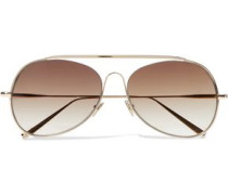 Spitfire aviator-style gold-tone sunglasses