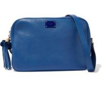 Glam Embellished Pebbled-leather Shoulder Bag Cobalt Blue Size --