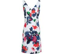 Floral-print Stretch Cotton-poplin Mini Dress White