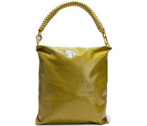 Coated-denim Tote Sage Green Size --