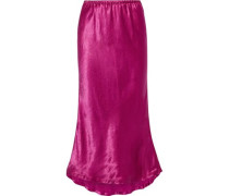 Woman Xael Satin Midi Skirt Purple