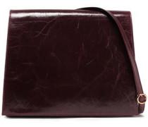 Woman Cahier Cracked-leather Shoulder Bag Merlot