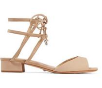 Daniella lace-up cutout nubuck sandals