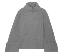 Uma Oversized Wool And Cashmere-blend Turtleneck Sweater Dark Gray