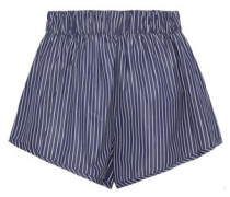 Pinstriped cotton shorts