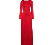 Betty Cutout Satin-jacquard Gown Red Size 12