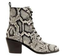 Dakota Snake-effect Leather Ankle Boots Animal Print