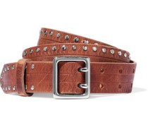 Willow studded leather belt