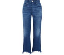 Austin frayed high-rise bootcut jeans