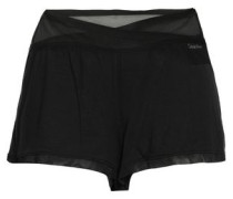 Tulle-paneled Stretch-modal Pajama Shorts Black