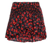 Secrets Ruffled Fil Coupé Chiffon Mini Skirt Midnight Blue