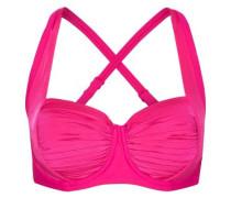 Pleated bikini top