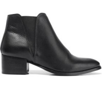 Woman Savea Textured-leather Ankle Boots Black
