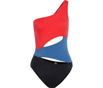 The Louise cutout color-block swimsuit