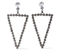 Gunmetal-tone Crystal Earrings Silver Size --