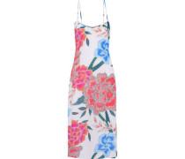 Floral-print gauze midi dress