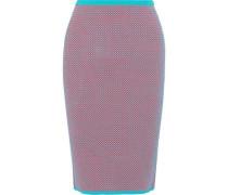 Jacquard-knit pencil skirt