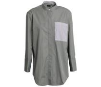 Callen Pinstriped Cotton-poplin Shirt Grey Green