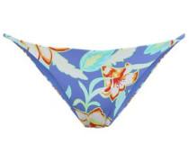 Rochelle Floral-print Low-rise Bikini Briefs Azure