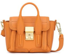 Woman Pashli Nano Leather Shoulder Bag Orange