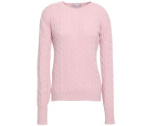 Cable-knit Cashmere Sweater Baby Pink
