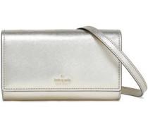 Textured-leather Shoulder Bag Platinum Size --