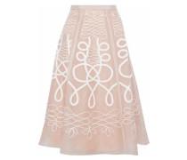 Embroidered silk-organza skirt