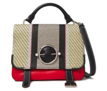 Disc Woven And Leather Shoulder Bag Multicolor Size --