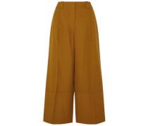 Cropped Wool Wide-leg Pants Camel
