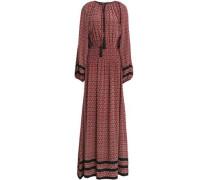 Dia Printed Silk Crepe De Chine Maxi Dress Claret