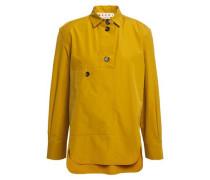 Woman Cotton-poplin Blouse Mustard