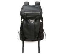 Snap-embellished Textured-leather Backpack Black Size --