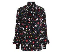 c31db68d94b68c Pussy-bow Printed Silk-jacquard Blouse Black. Marc Jacobs