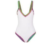 Yaz Crochet-trimmed Swimsuit White