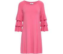 Tiered Jersey Mini Dress Pink