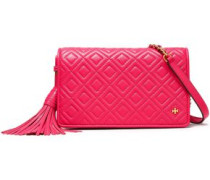 Quilted Leather Shoulder Bag Bright Pink Size --