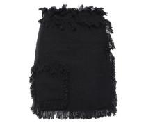 Frayed Cotton-blend Tweed Mini Skirt Black