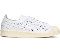 Superstar Laser-cut Leather Sneakers White