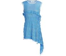 Stretch-knit Top Blue